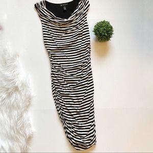 INC International Concepts BlackWhite Stripe Dress